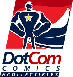 The DotCom Comics and Collectibles logo!