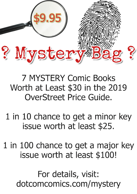 Comic Book Mystery Bags are a DotCom Comics exclusive