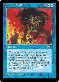 Sell Magic the Gathering cards: Force of Will. Click for values