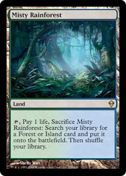 Sell Magic the Gathering cards: Misty Rainforest. Click for values