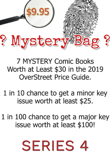 Comic Book Mystery Bag series 4 drops on November 1st, 2019! Don't miss out! No tricks, just treats