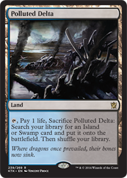 Sell Magic the Gathering cards: Polluted Delta. Click for values