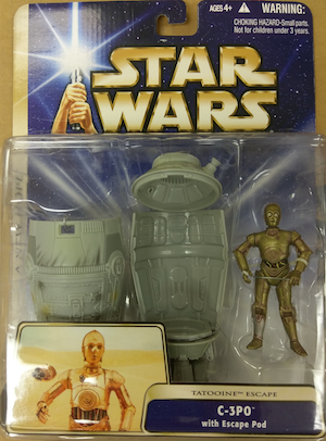 Star Wars action figures: C3-PO with Escape Pod