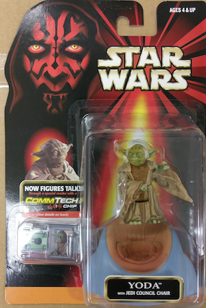 Star Wars action figures: Yoda with Council Chair