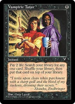 Sell Magic the Gathering cards: Vampiric Tutor. Click for values