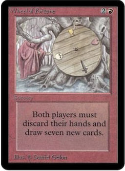 Magic the Gathering Card Values #10: Wheel of Fortune. Click for values