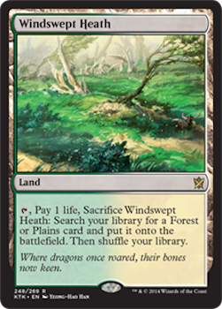 Sell Magic the Gathering cards: Windswept Heath. Click for values