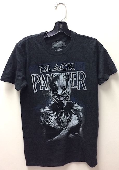 Black Panther T-shirt. Click to see more Marvel Comics T-shirts at DotCom Comics and Collectibles!