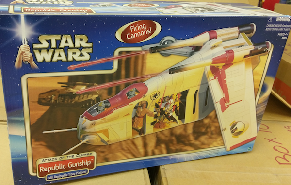 Vintage Kenner Star Wars toys: Attack of the Clones Republic Gunship