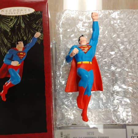 Vintage Hallmark Super Hero Christmas Ornaments: Superman