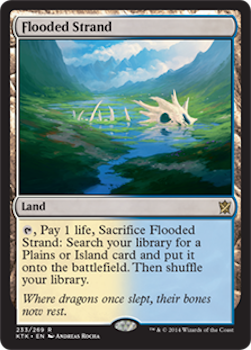 Sell Magic the Gathering cards: Flooded Strand. Click for values