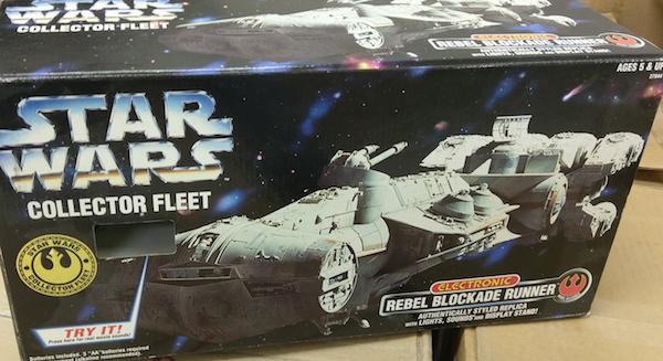 Vintage Kenner Star Wars toys: Collector Fleet Rebel Blockade Runner