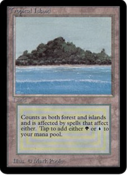 Magic the Gathering Card Values #9: Tropical Island. Click to see prices