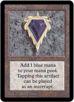Magic the Gathering Card Values #3: Mox Sapphire. Click for values