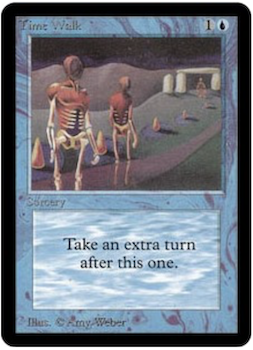 Most valuable Magic the Gathering Card Values #6: Time Walk. Click for values