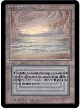 Magic the Gathering Card Values #5: Underground Sea. Click for values