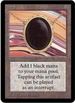 Alpha Edition Black Border Magic the Gathering Cards #4. Mox Jet value $9,000. Click to see prices