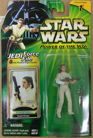 Star Wars Power of the Jedi Leia action figure